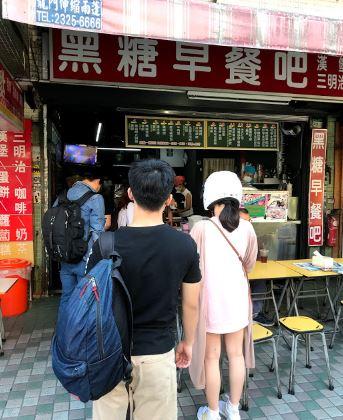 台湾の朝食を提供するローカル店